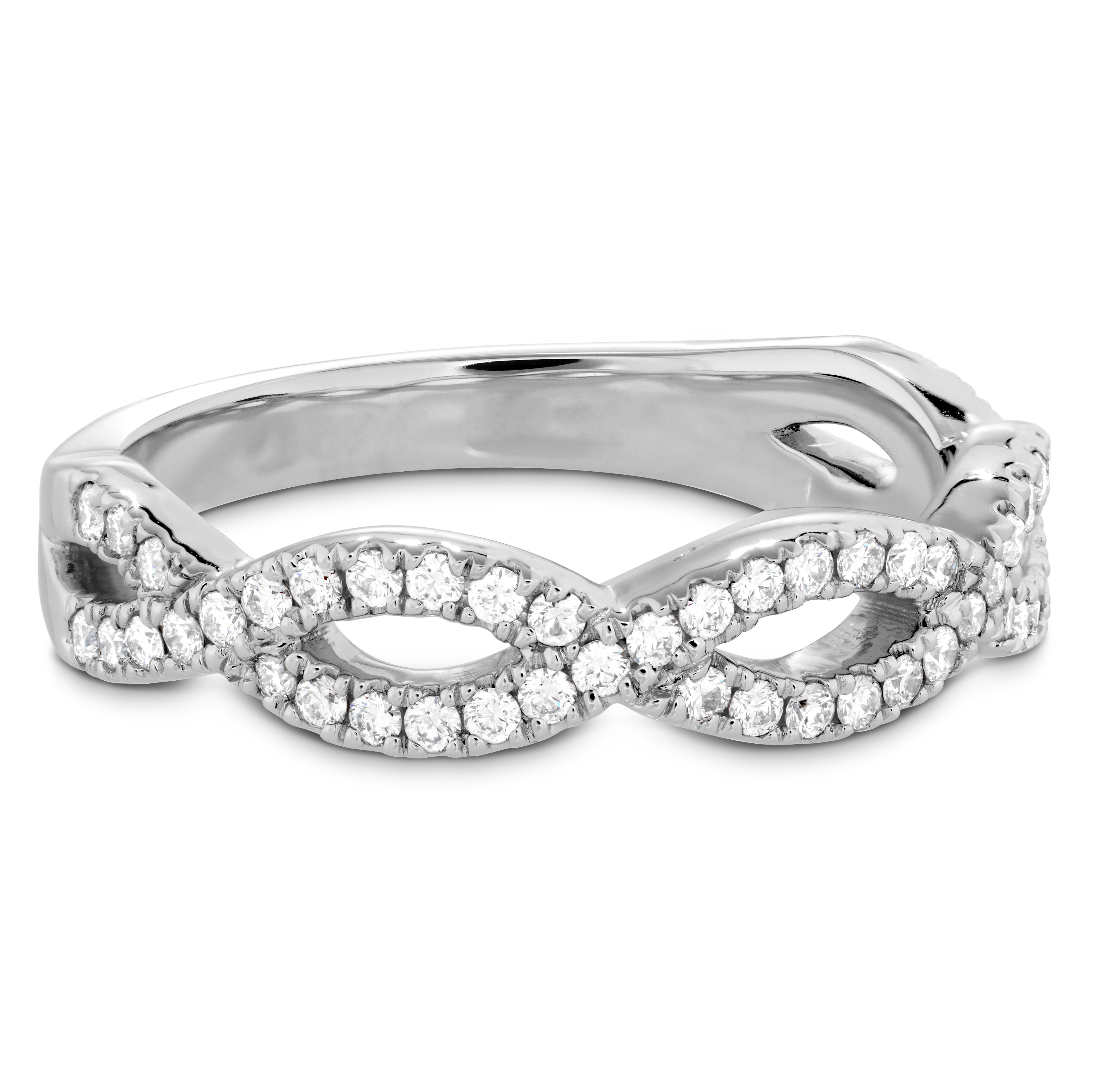 Destiny Twist Diamond Band Platinum For Most Current Band Of Hearts Rings (View 7 of 25)