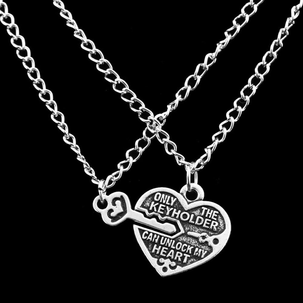 Detail Feedback Questions About 1 Pair Fashion Style Friendship With Regard To 2019 Best Friends Heart & Key Necklaces Pendant Necklaces (View 17 of 25)