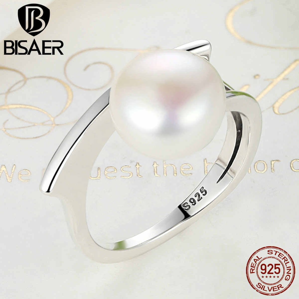 Detail Feedback Questions About Hot Sale 925 Sterling Silver Queen With Regard To 2018 Bead & Freshwater Cultured Pearl Open Rings (View 11 of 25)