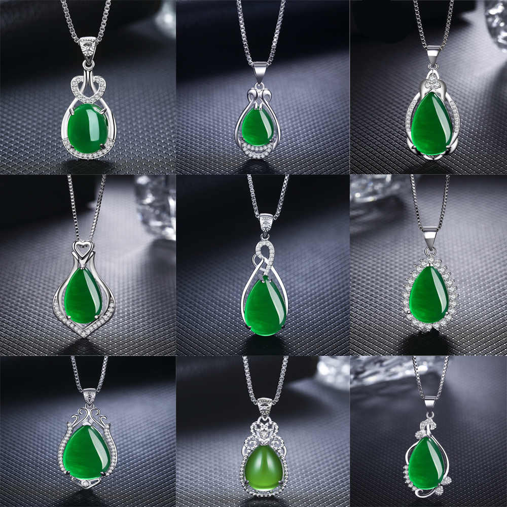 Detail Feedback Questions About Luxury Water Drop Red Stone Necklace Throughout Latest Royal Green Crystal May Droplet Pendant Necklaces (View 6 of 25)