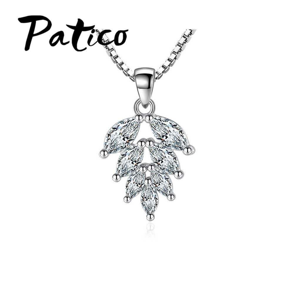 Detail Feedback Questions About Patico New Arrival Leaves Design For Most Popular Shining Leaf Pendant Necklaces (View 4 of 25)