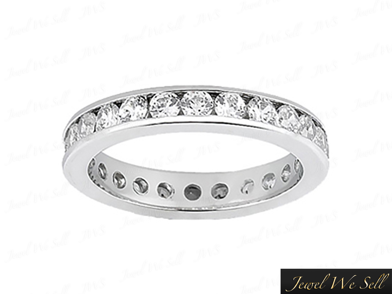 Details About 0.70Ct Round Diamond Classic Channel Set Eternity Ring Band  14K White Gold F Vs2 Inside 2020 Diamond Channel Set Anniversary Bands In White Gold (Gallery 8 of 24)