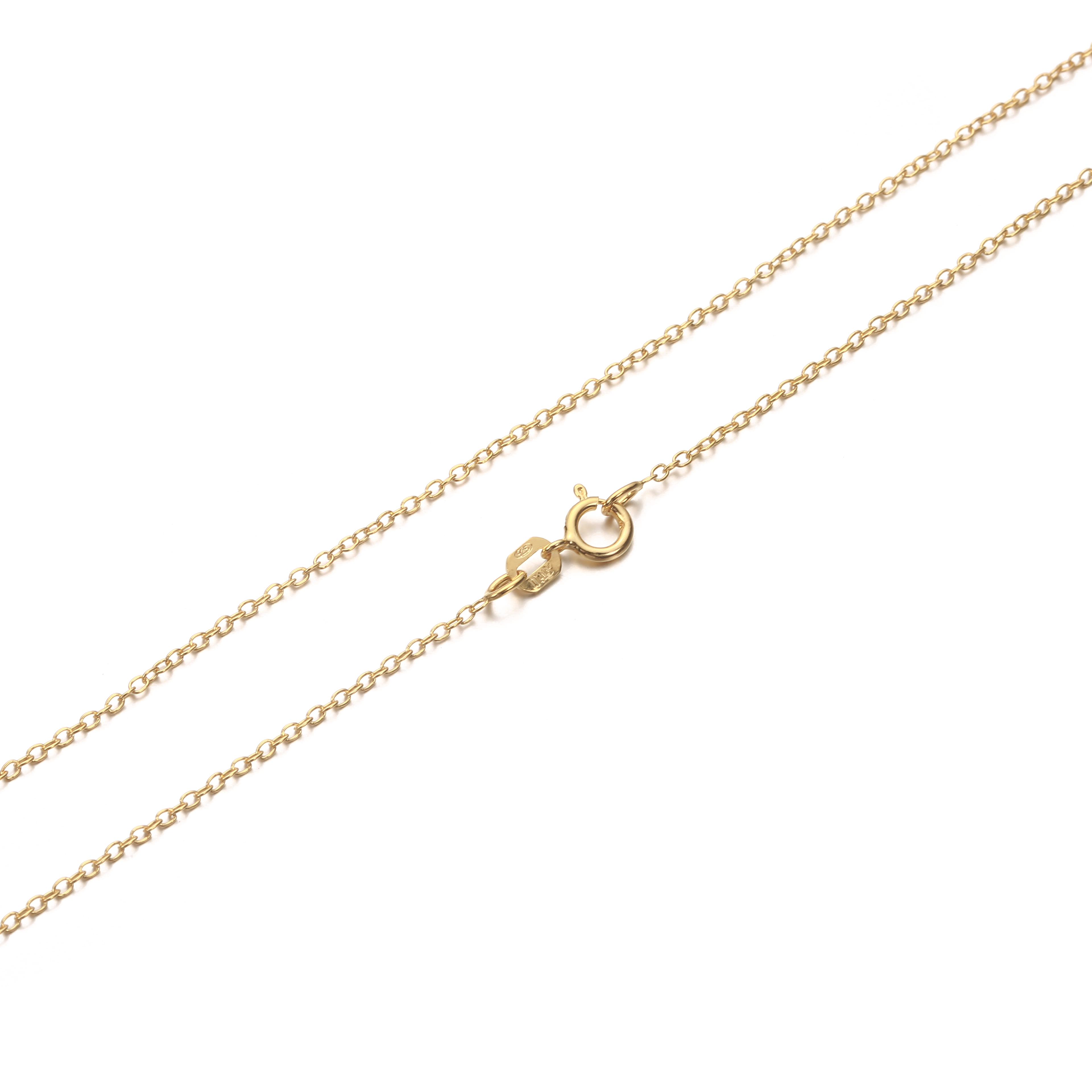 Details About 14K Gold Plated 925 Sterling Silver Cable Chain Necklace  (View 11 of 25)