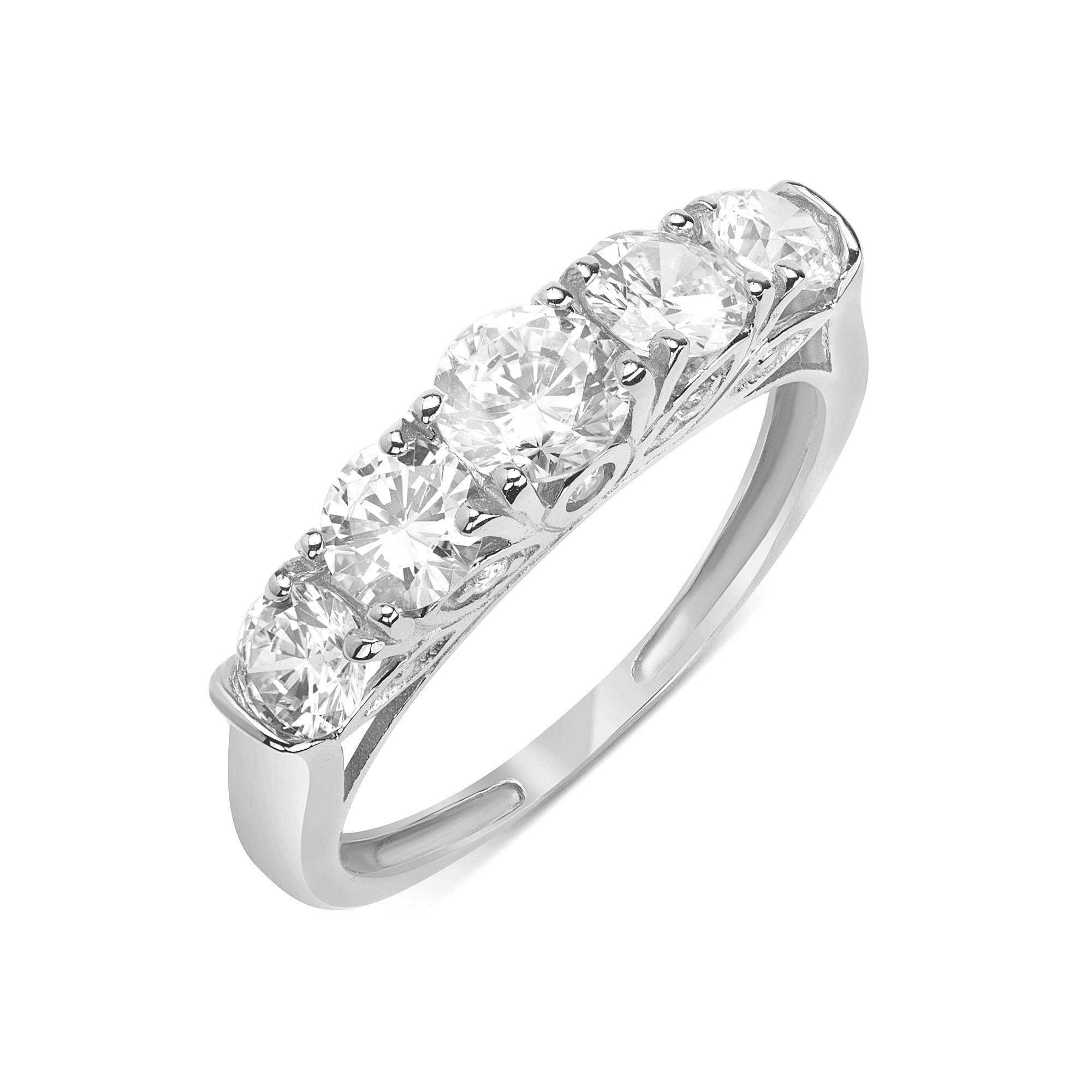 Details About 14K White Gold Wedding Ring Round  (View 15 of 25)
