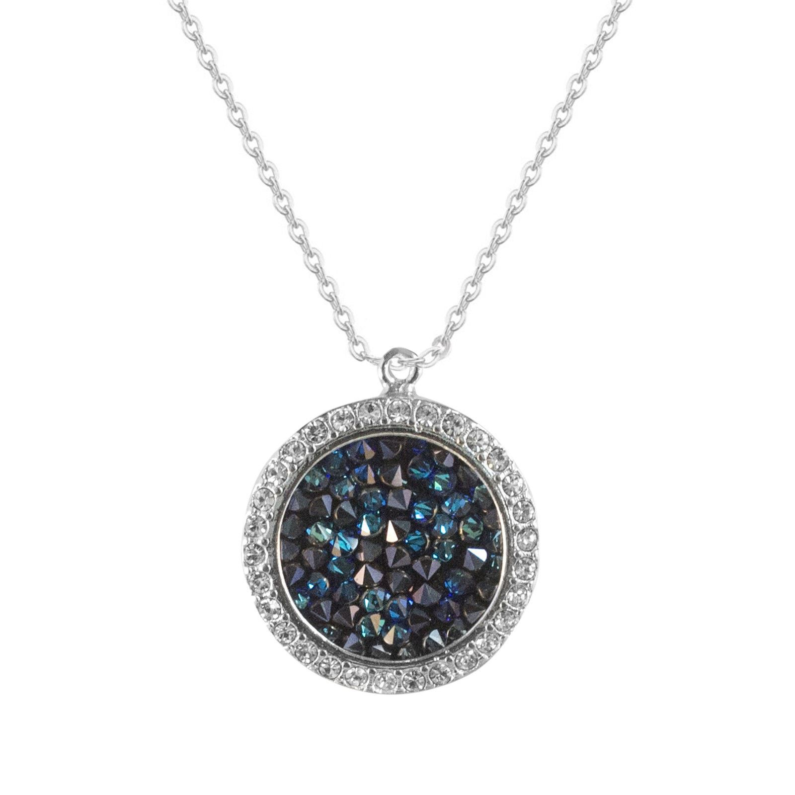 Details About Blue Swarovski Element Crystals 14K Silver Solitaire Drops Necklace Earrings Set In Recent Shimmering Snowflake Locket Element Necklaces (View 24 of 25)