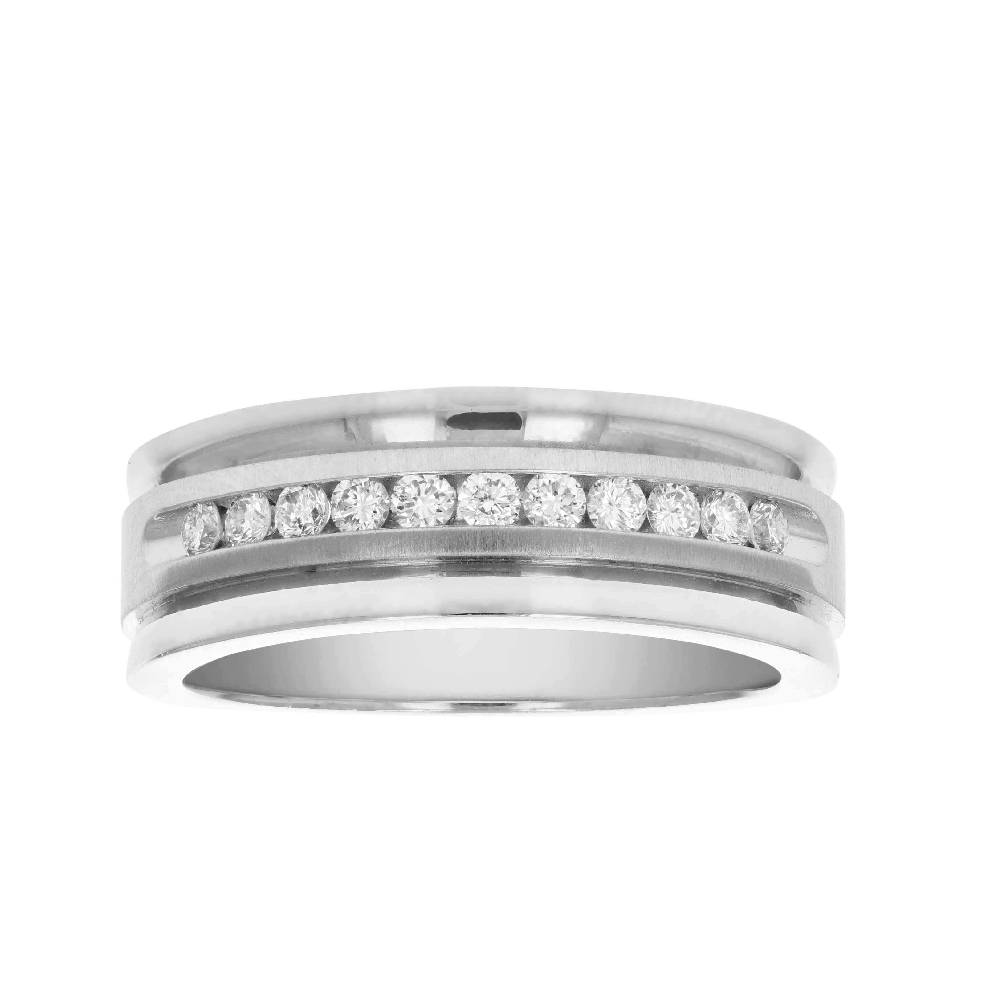Details About Certified 1/4 Ct Si2 I1 11 Stone 14K Gold Machine Diamond  Wedding Band Size 7 Within Recent Certified Diamond Anniversary Bands In Gold (View 9 of 25)