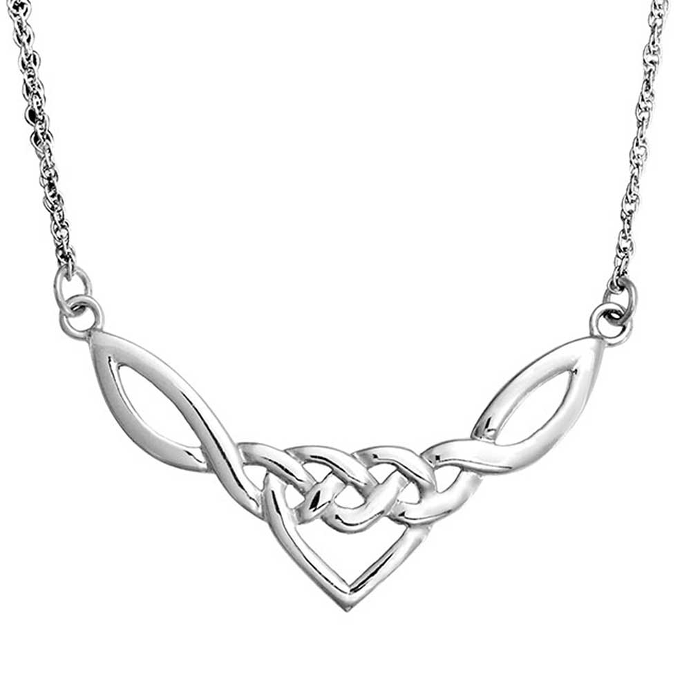 Details About Irish Celtic Love Heart Knot Work Triquetra Necklace Sterling Silver Pendant Inside 2019 Knotted Heart Pendant Necklaces (Gallery 3 of 25)