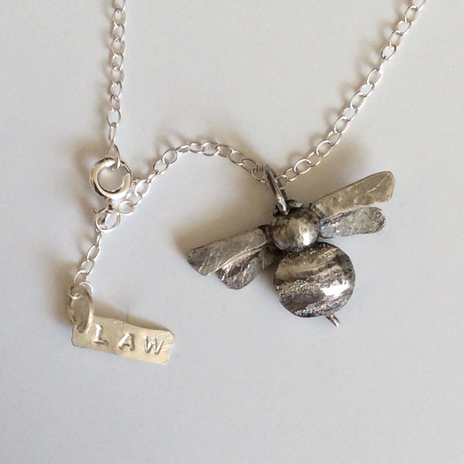 Details About Luxury S Silver Bumble Bee Pendant London Hallmarked Hand  Made On Chain Necklace Throughout Most Current Bee Locket Element Necklaces (Gallery 21 of 25)