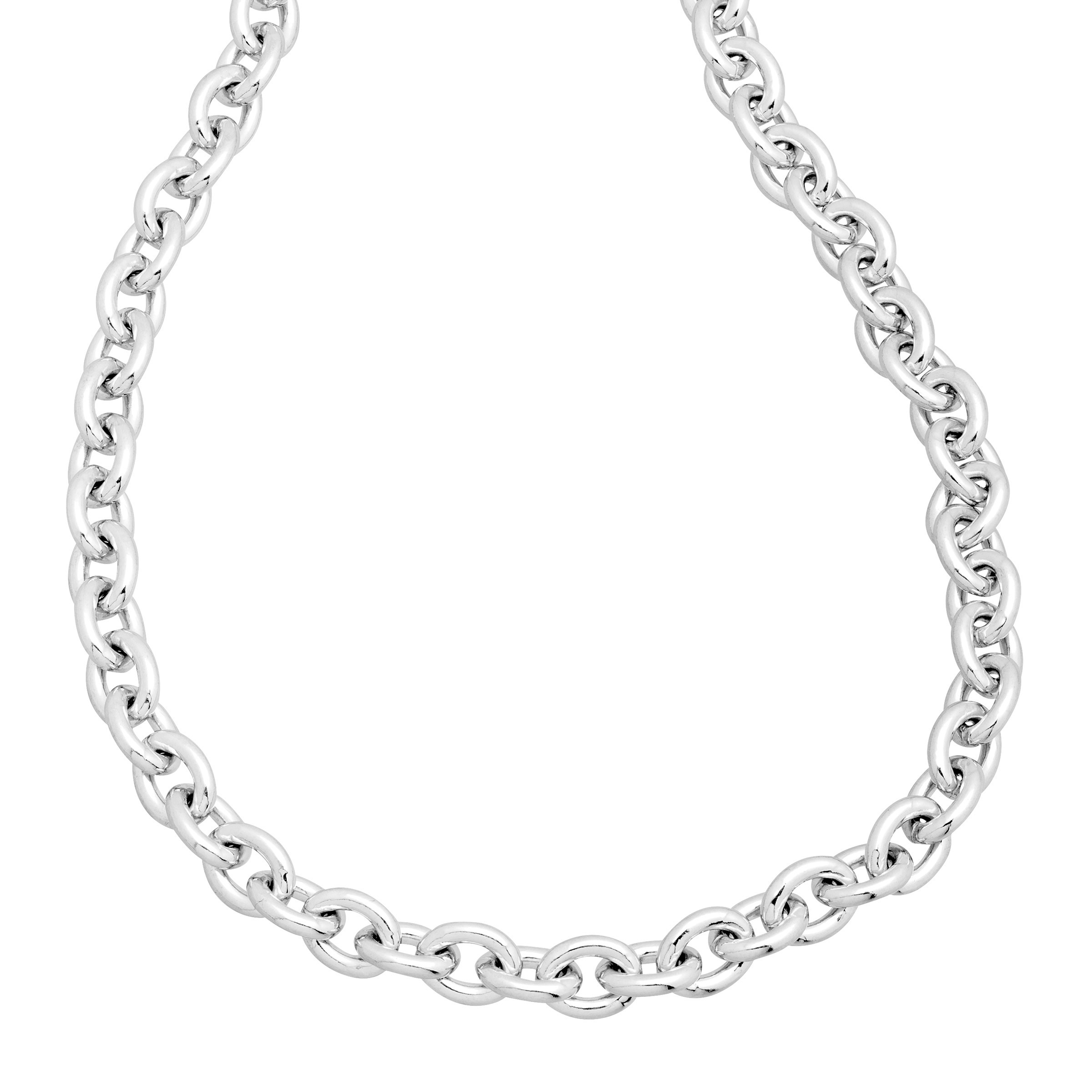 Details About Men's Cable Chain Necklace In Sterling Silver Intended For Most Current Cable Chain Necklaces (Gallery 1 of 25)