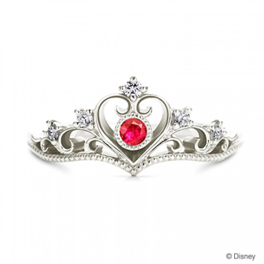Details About New! Disney Princess Tiara Heart Ring 4 Types Of  Metal&tourmaline From Japan F/s Inside 2018 Princess Tiara Crown Rings (View 7 of 25)