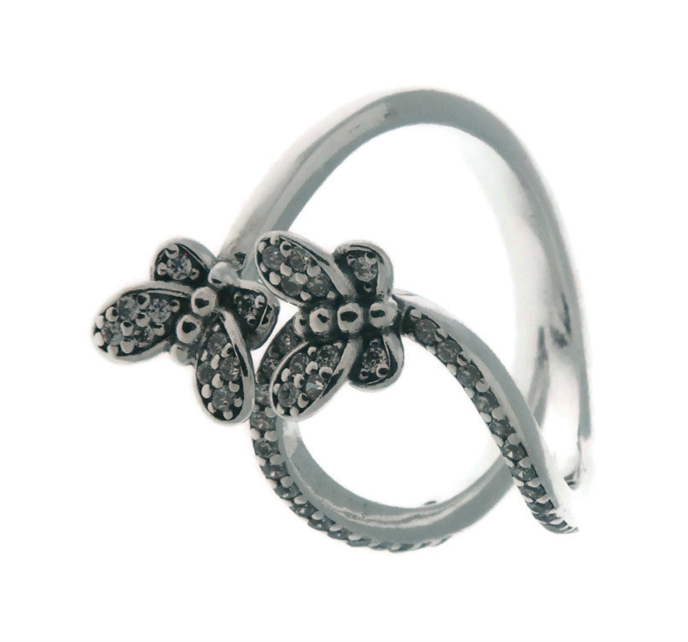 Details About Pandora Bedazzling Butterflies 925 Sterling Silver Ring  Eur 50, Us 5 197920Cz 50 With Most Popular Sparkling Butterfly Open Rings (Gallery 7 of 25)