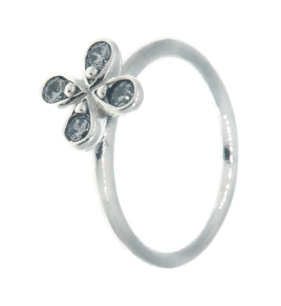 Details About Pandora Four Petal Flower 925 Sterling Silver Ring Eur 54,  Us 7 197967Cz 54 For 2017 Four Petal Flower Rings (Gallery 10 of 25)
