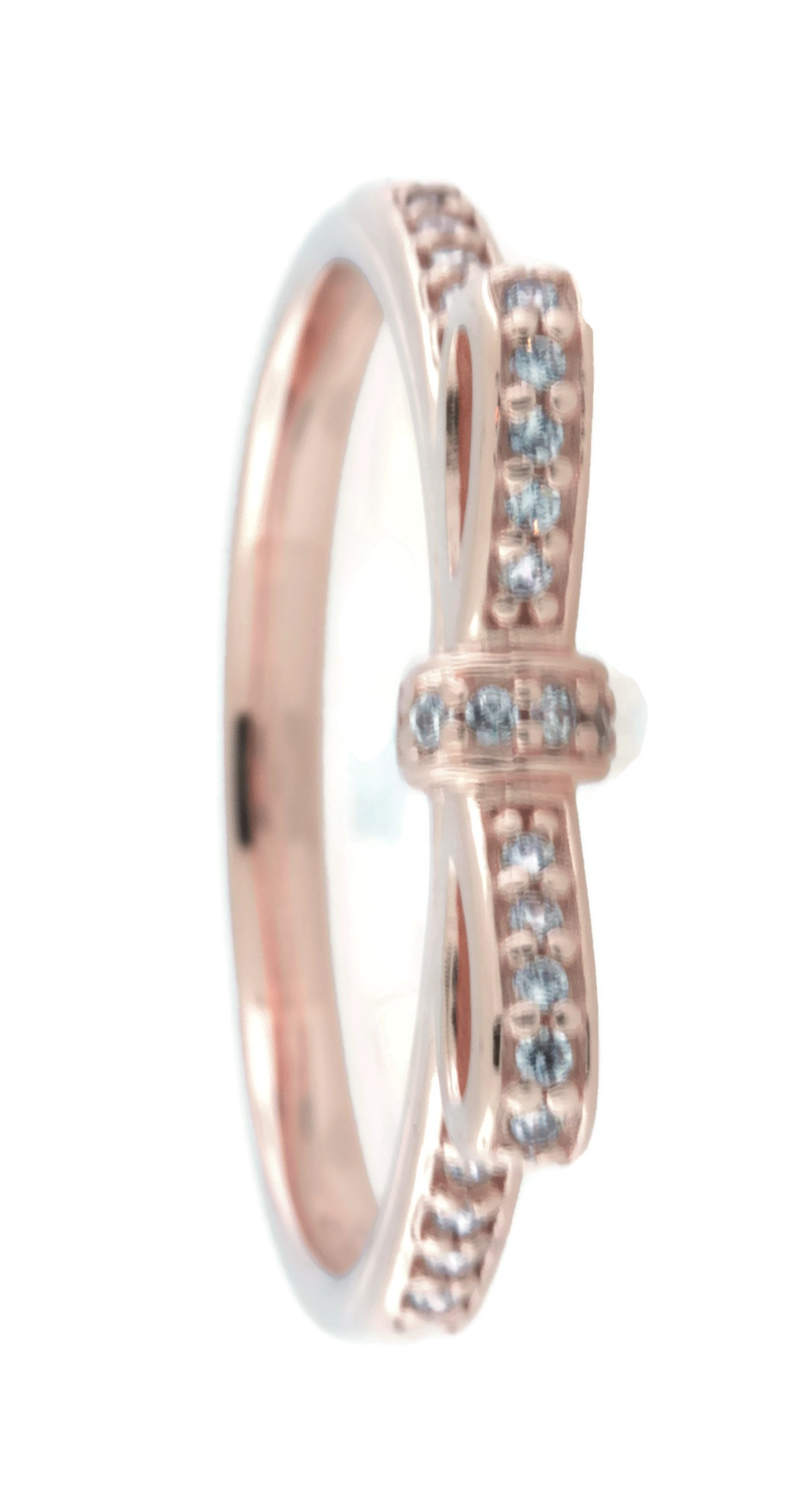 Details About Pandora Sparkling Bow Ring, Pandora Rose And Clear Cz, 180906Cz (52) Pertaining To Most Recent Classic Bow Rings (View 22 of 25)