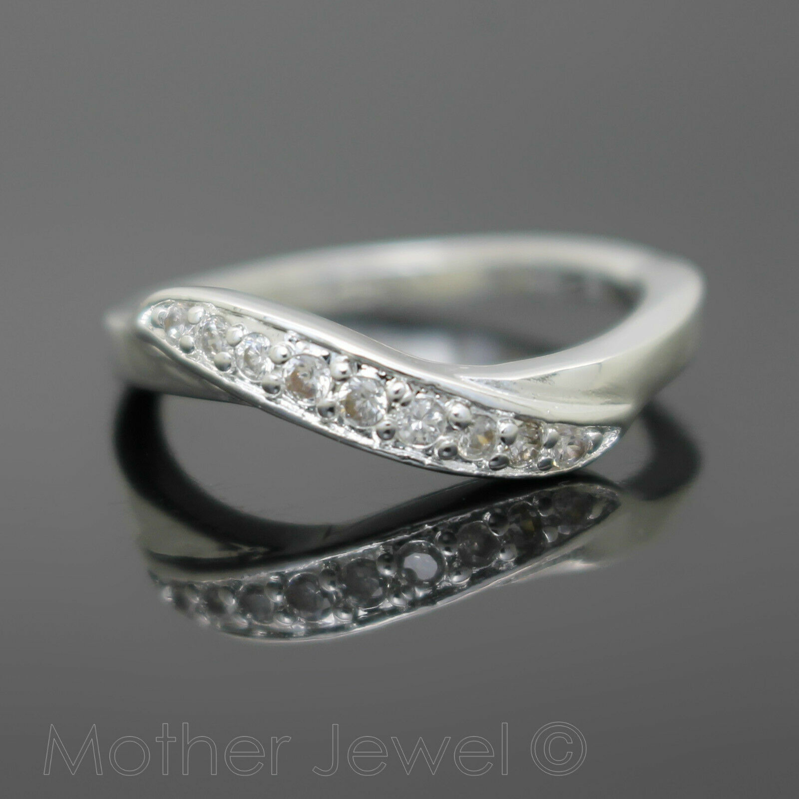 "Details About Simulated Diamond Sterling Silver Plated Anniversary Wedding  Eternity Ring Sz 7 Pertaining To Most Up To Date Diamond Seven Stone ""s"" Anniversary Bands In Sterling Silver (Gallery 5 of 25)"