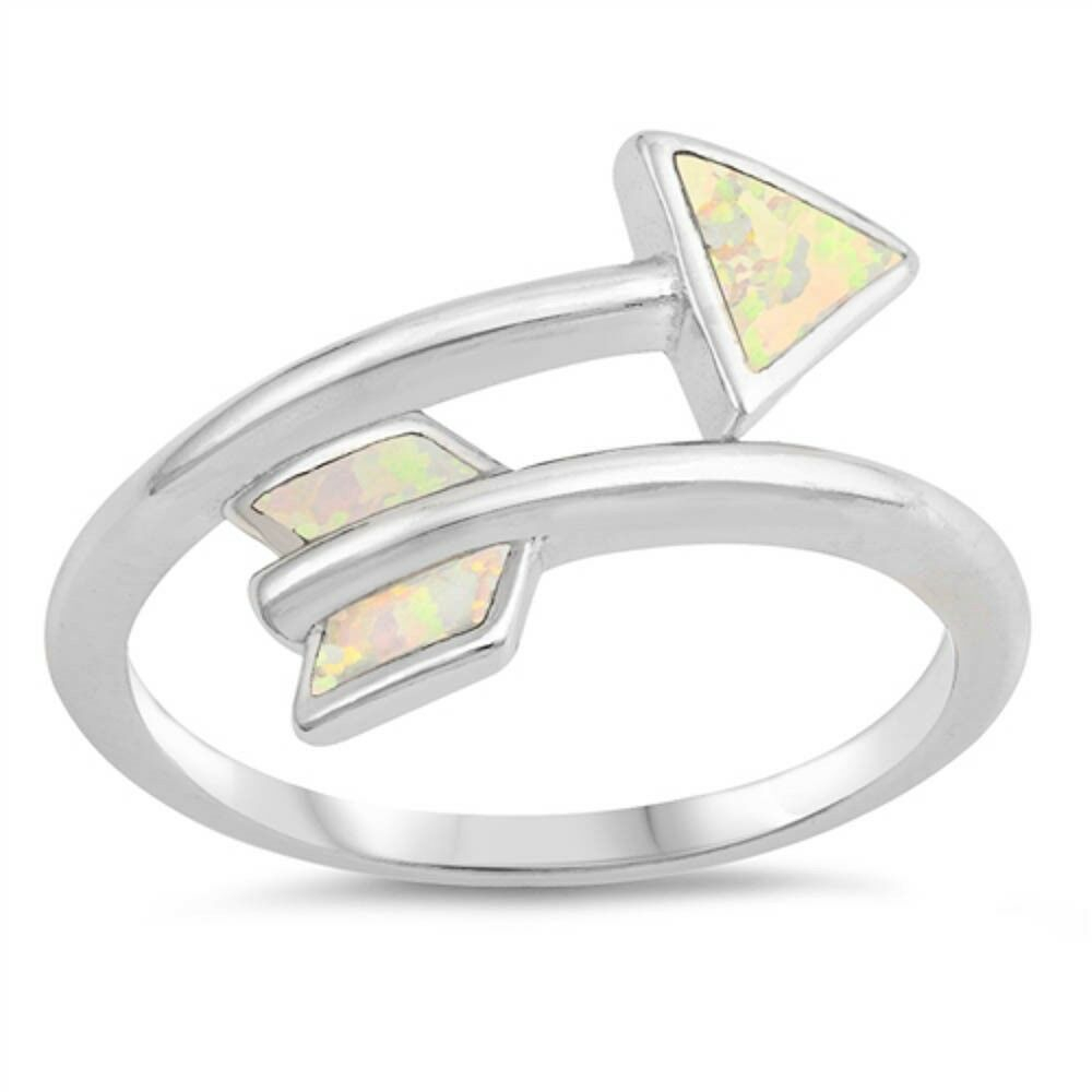 Details About Wraparound White Opal Arrow .925 Sterling Silver Ring Sizes  5 10 Intended For Recent Wrap Around Arrow Rings (Gallery 17 of 25)