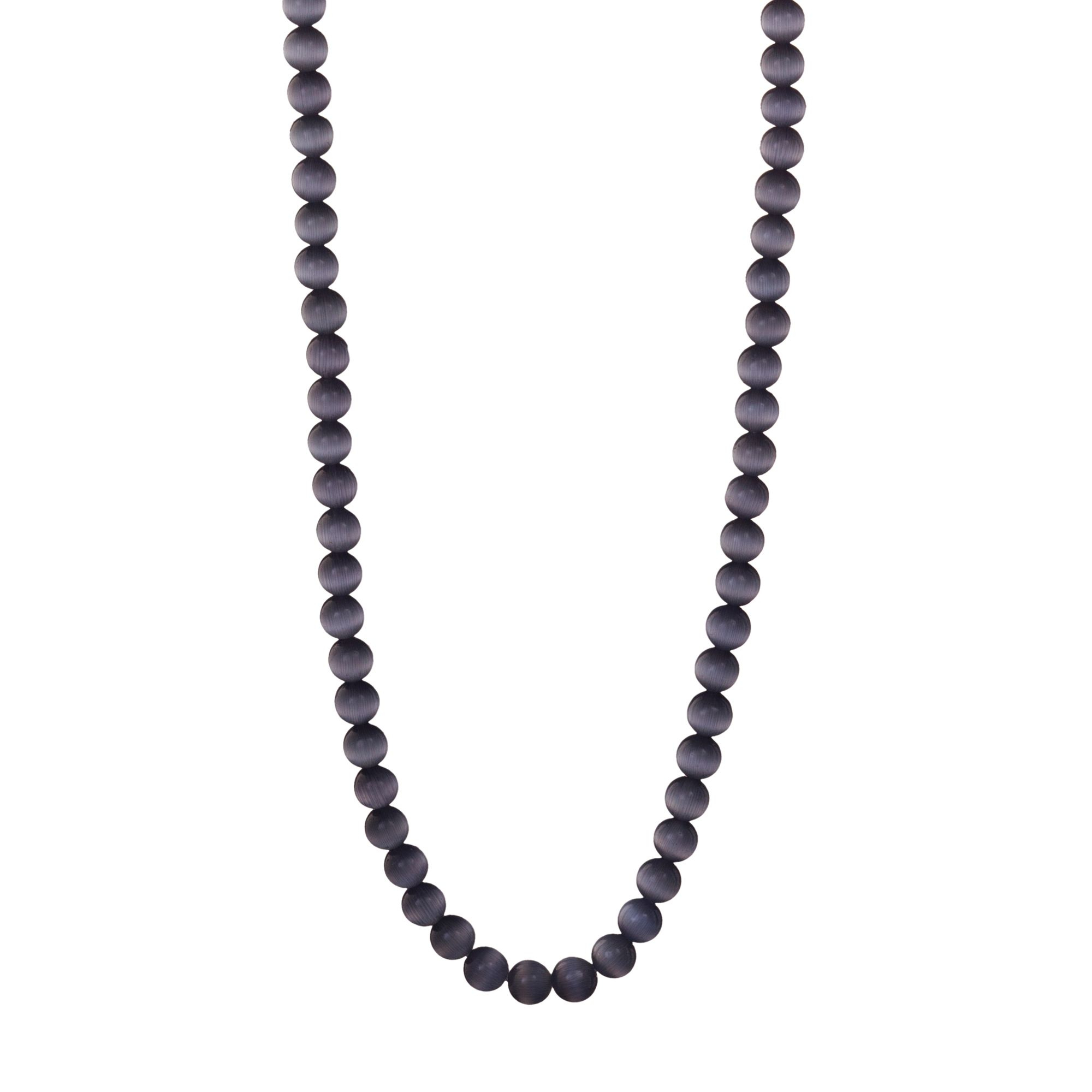 Determination Beaded Chain, Grey Cat Eye Inside Latest Beaded Chain Necklaces (View 9 of 25)