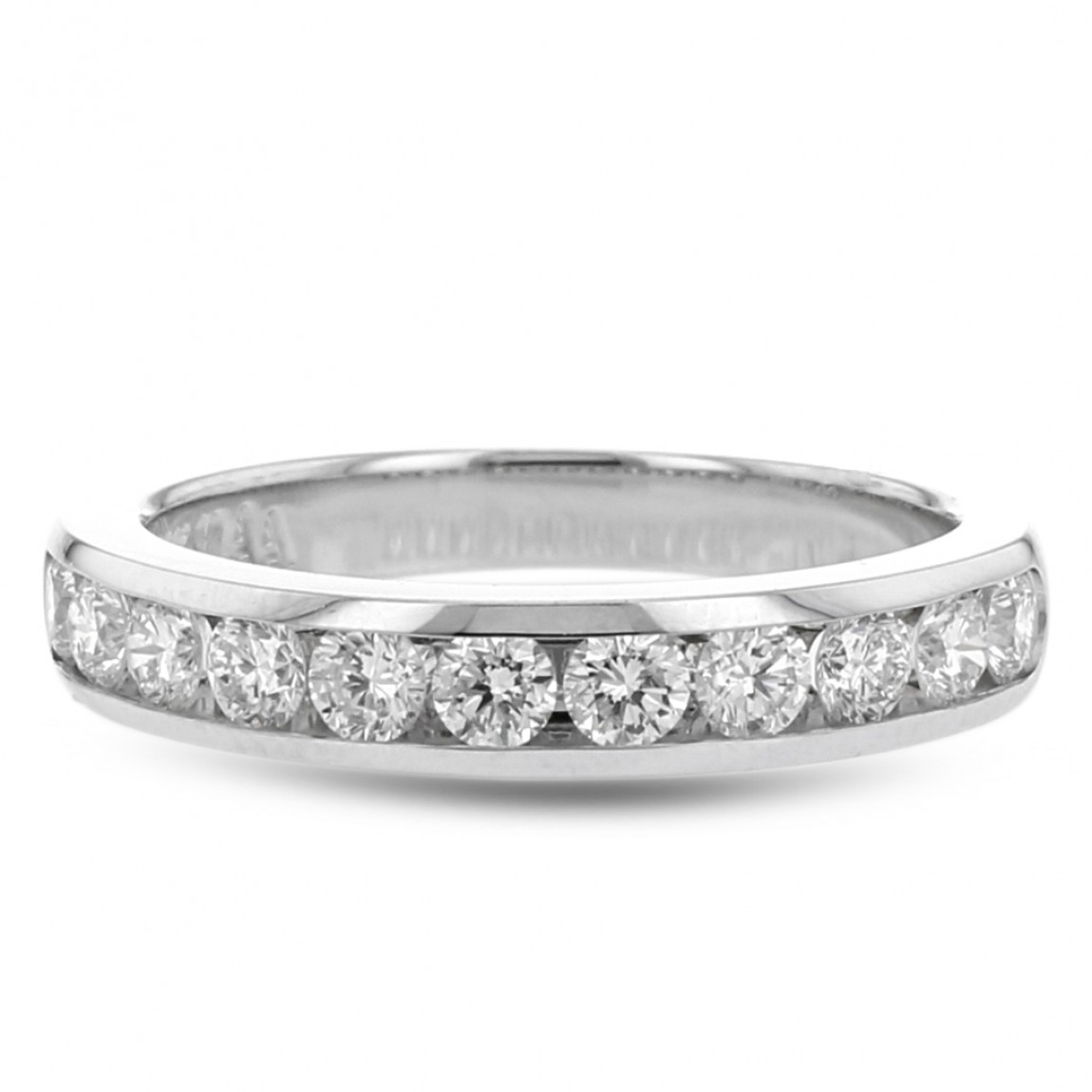 Diamond Channel Wedding Band, 18K White Gold, .75Tdw In 2020 Diamond Channel Anniversary Bands In Gold (Gallery 6 of 25)