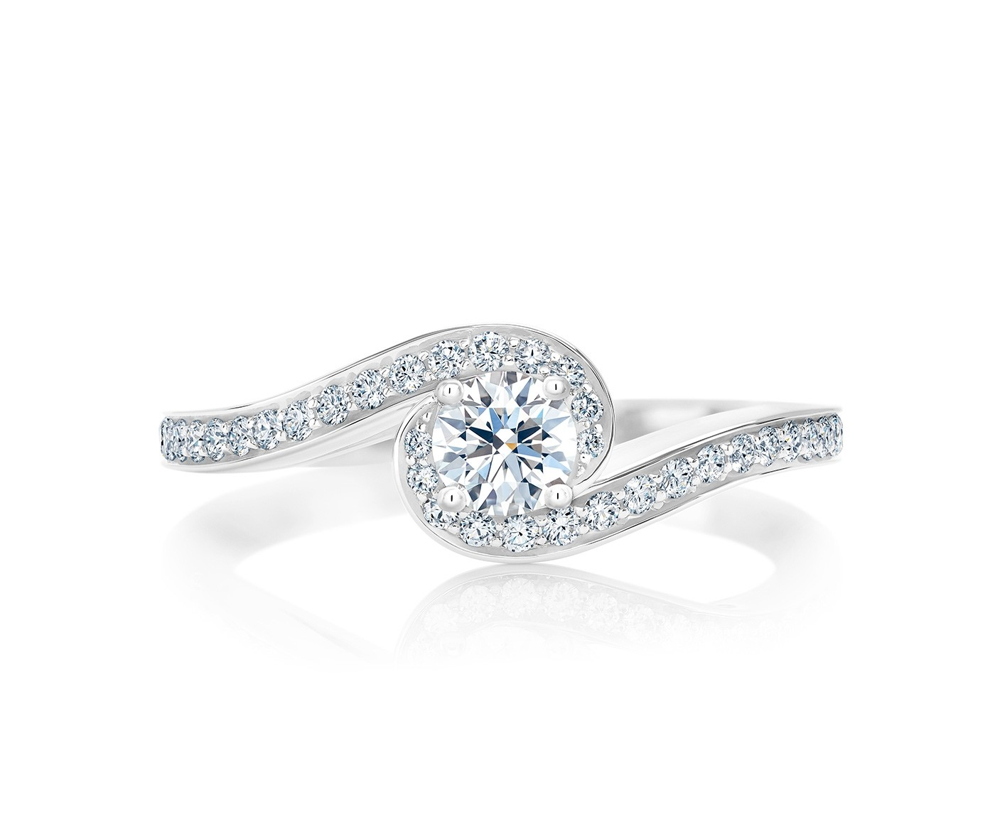 Diamond Engagement Rings | Bridal | De Beers Inside 2018 Sparkling Twisted Lines Rings (View 7 of 25)