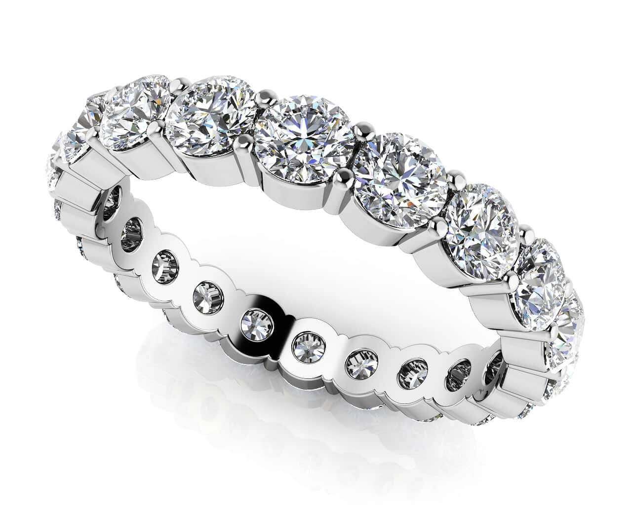 Diamond Eternity Rings & Bands With Regard To Most Recently Released Diamond Eternity Anniversary Vintage Style Bands In White Gold (Gallery 20 of 25)