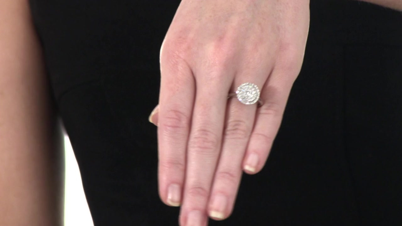Diamond Layered Frame Ring In 10k White Gold 1/2 Ct. T.w (View 10 of 25)