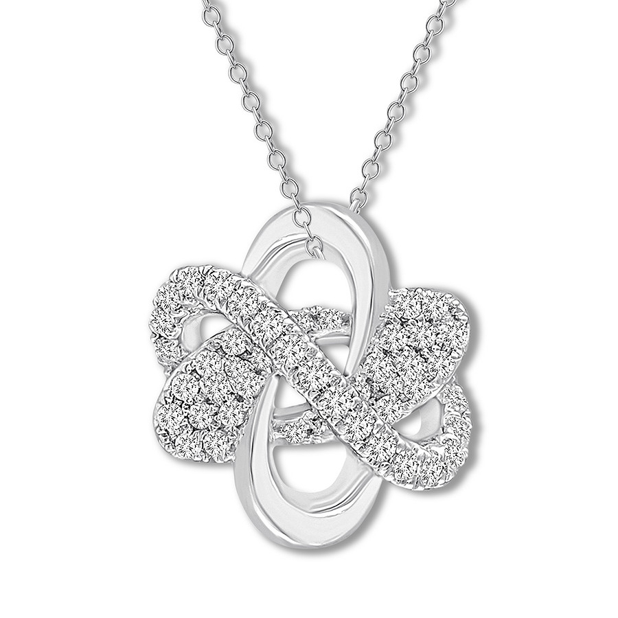 Diamond Necklace 1/6 Ct Tw Round Cut Sterling Silver Throughout Current Letter X Alphabet Locket Element Necklaces (View 18 of 25)