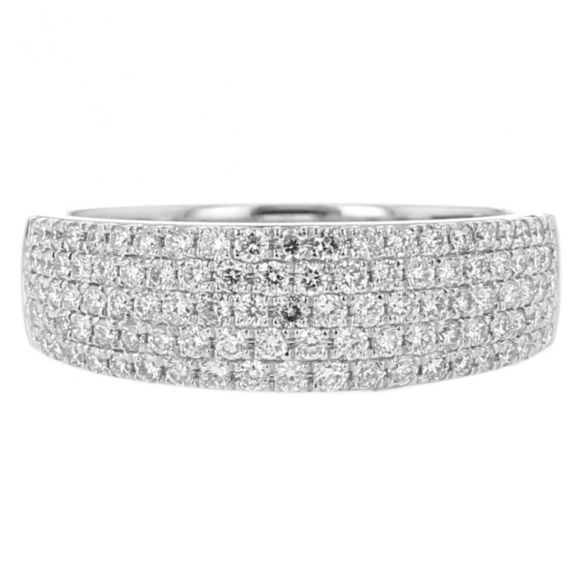 Diamond Pavé Fashion Band, 14k White Gold, (View 17 of 25)