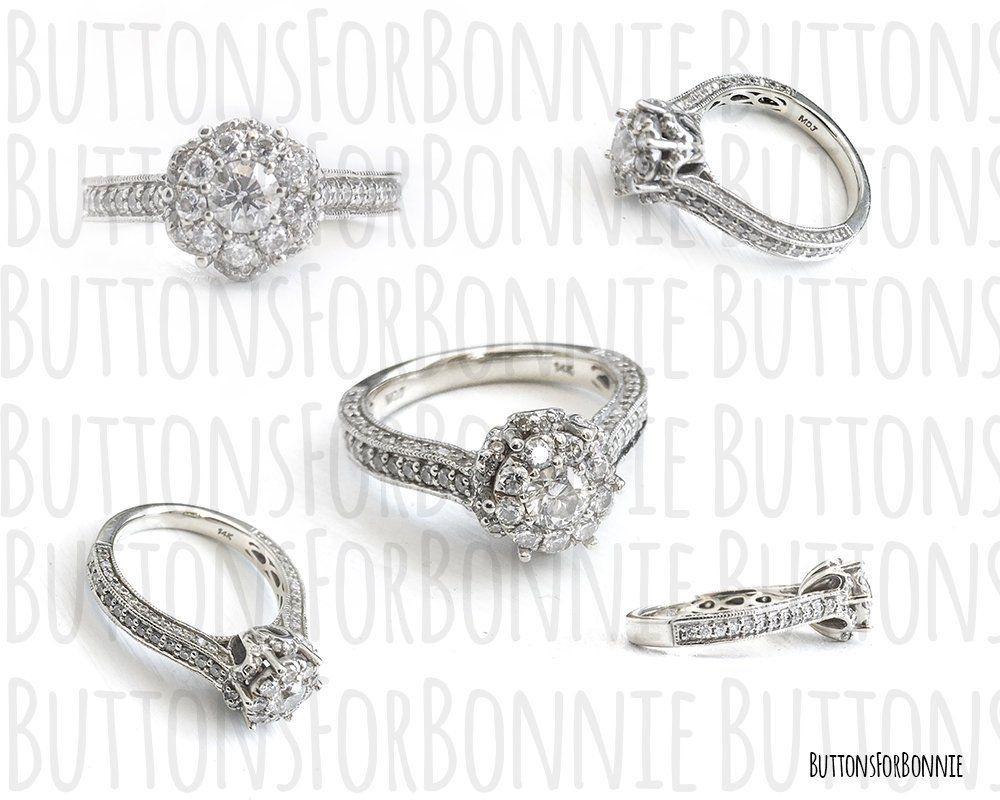 Diamond Ring, White Gold, Ring, Engagement Ring, Anniversary Within Recent Diamond Layered Anniversary Ring In White Gold (Gallery 2 of 25)