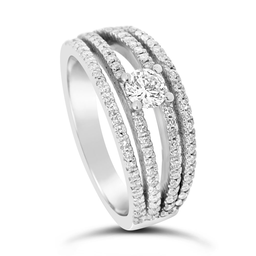 Diamond Ring With Pavé Bands Regarding Most Recently Released Elegant Pavé Band Rings (View 18 of 25)