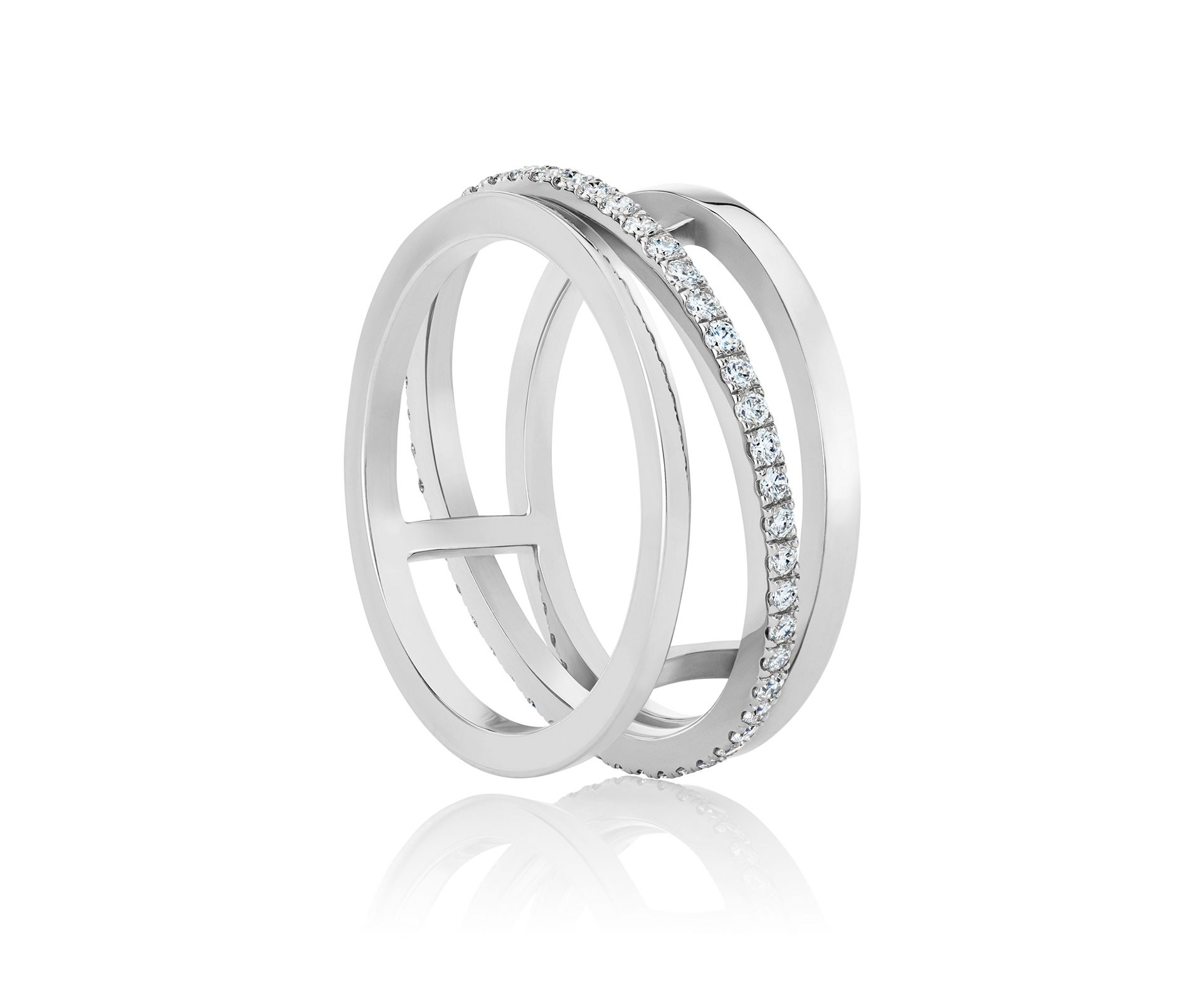 Diamond Rings And Bands For Women | De Beers Us In 2019 Diamond Layered Anniversary Ring In White Gold (View 18 of 25)