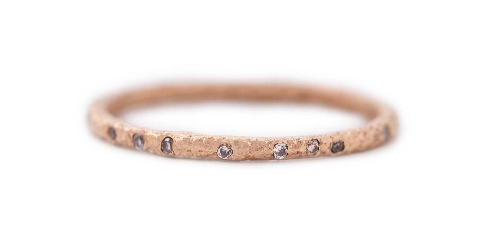 Diamond Scattered Eternity Ring – Champagne Diamond, 18ct With Most Current Champagne Diamond Anniversary Bands In Rose Gold (View 4 of 25)