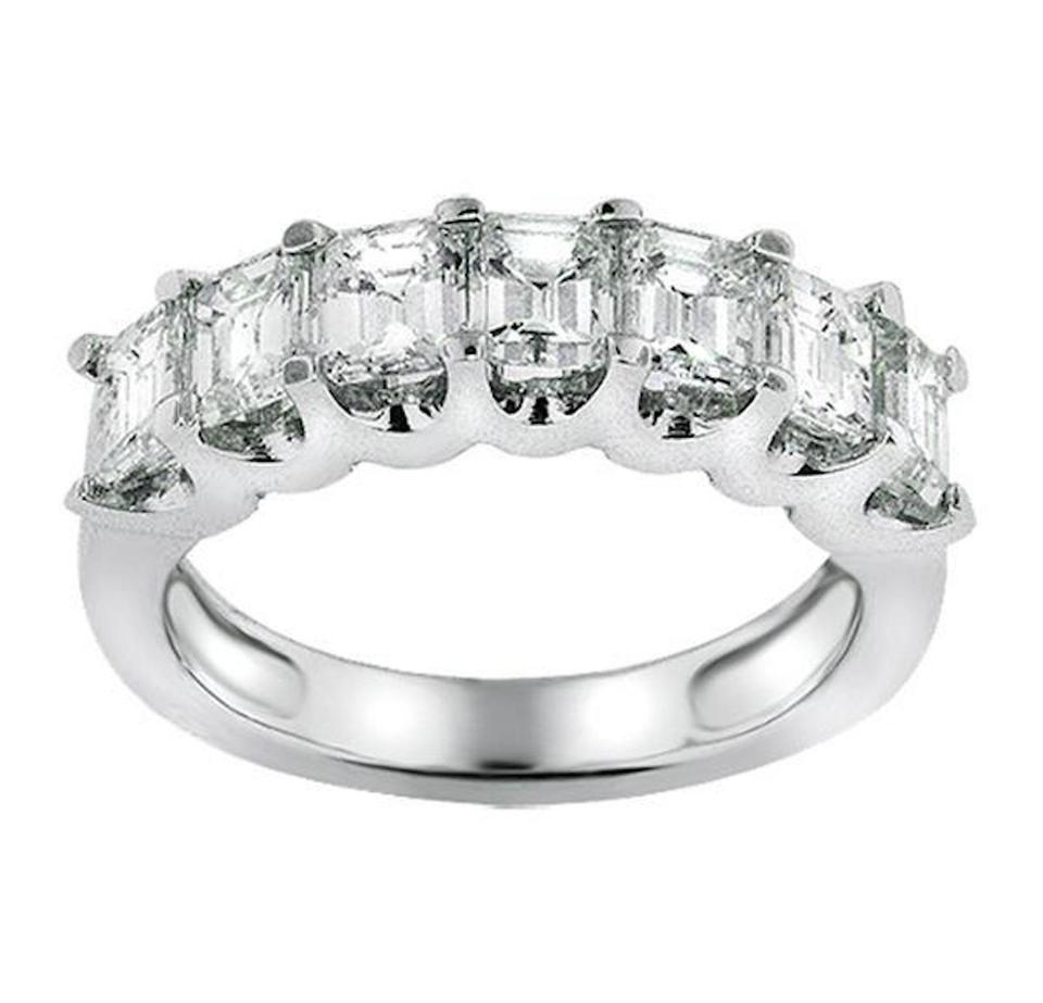 Diamond Seven Stone Anniversary In White Gold Ring 25% Off Retail With Recent Diamond Seven Stone Anniversary Ring In White Gold (View 6 of 25)