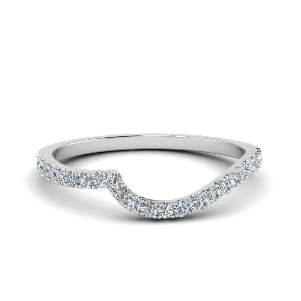 Featured Photo of Diamond Swirl Anniversary Bands In White Gold