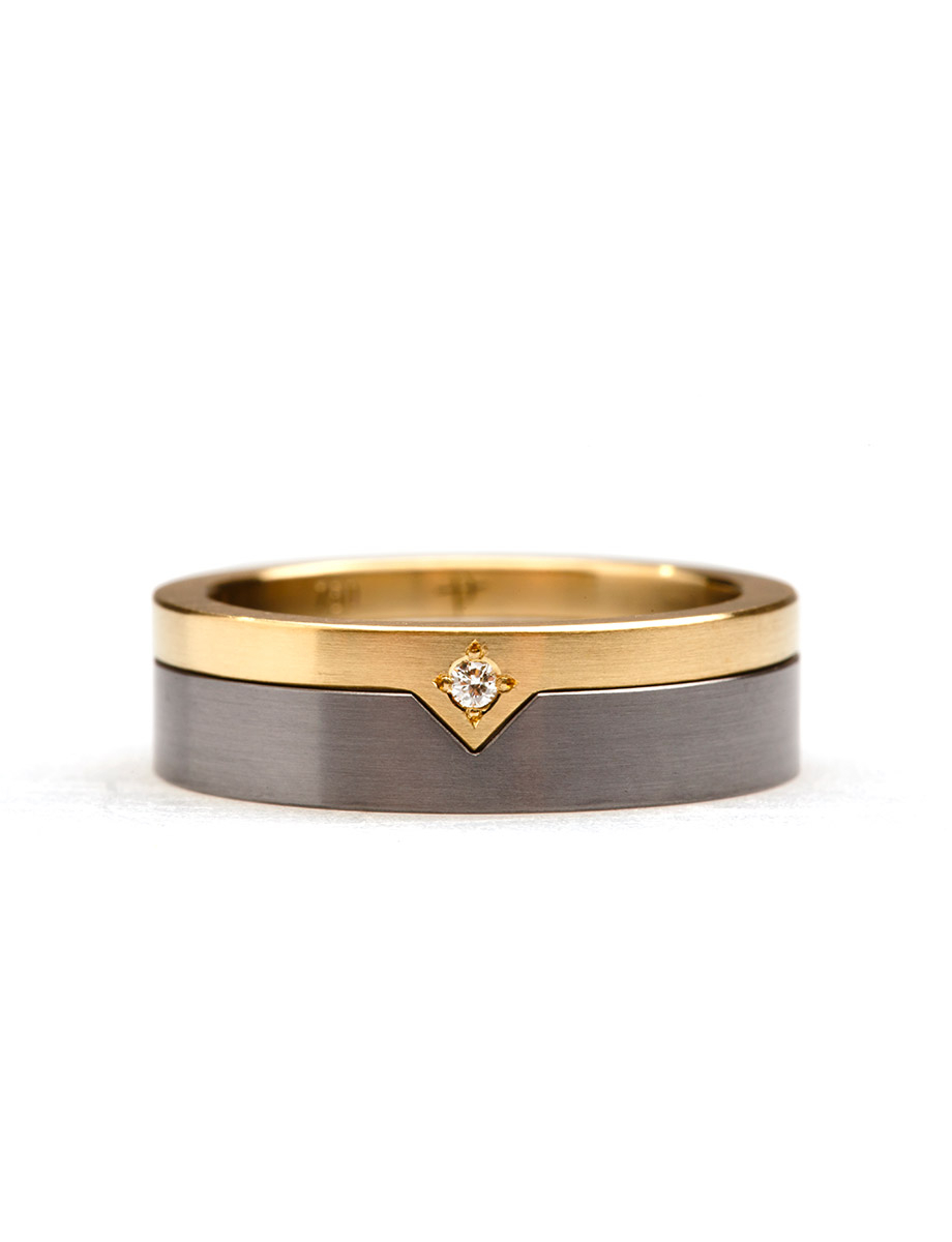 Diamond Triangle Stack Ring   E.g (View 11 of 25)