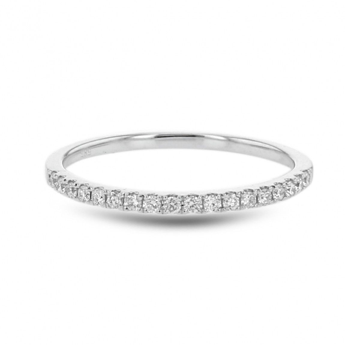 Diamond Wedding Anniversary Band, 14K White Gold, .16Ctw Within Latest Diamond Anniversary Bands In Gold (Gallery 18 of 25)