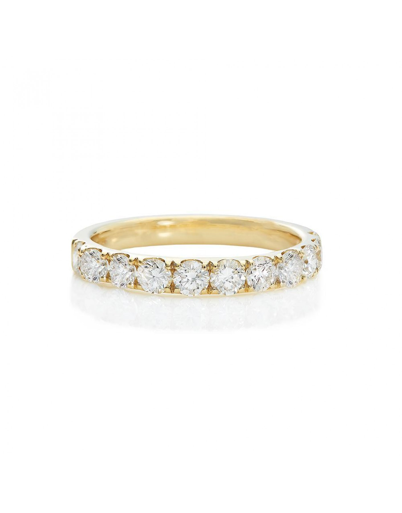 Diamond Wedding Band In 18K Yellow Gold (1.00 Ct Tw.) Intended For Current Diamond Anniversary Bands In White Gold (Gallery 6 of 25)
