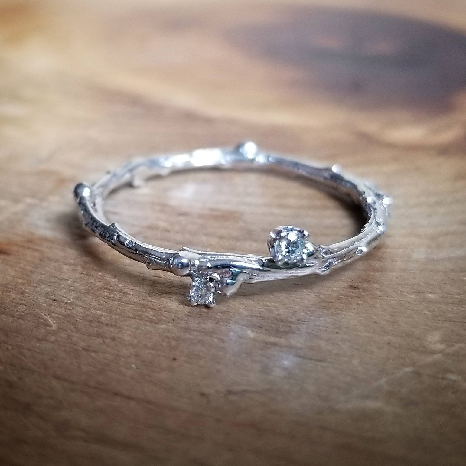 Diamond Wedding Bands Women, White Gold Wedding Band Women, Twig Wedding  Band, Womens Wedding Band, Diamond Wedding Band, Rings For Women Intended For Most Recently Released Diamond Contour Anniversary Bands In White Gold (View 17 of 25)