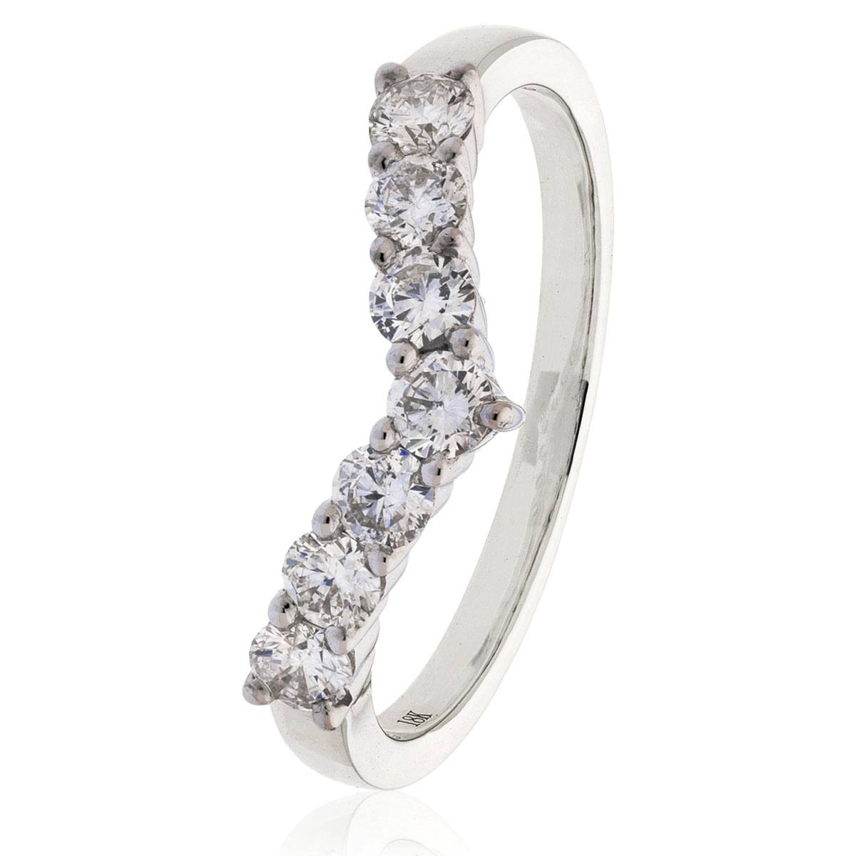 Diamond Wishbone Ring  (View 12 of 25)