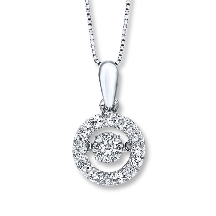 Diamonds In Rhythm 1/5 Ct Tw Necklace Sterling Silver In Recent Round Sparkle Halo Necklaces (View 25 of 25)