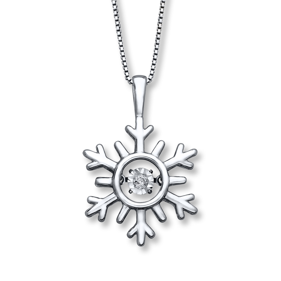 Diamonds In Rhythm Snowflake Necklace Sterling Silver Inside 2020 Shimmering Snowflake Locket Element Necklaces (Gallery 4 of 25)