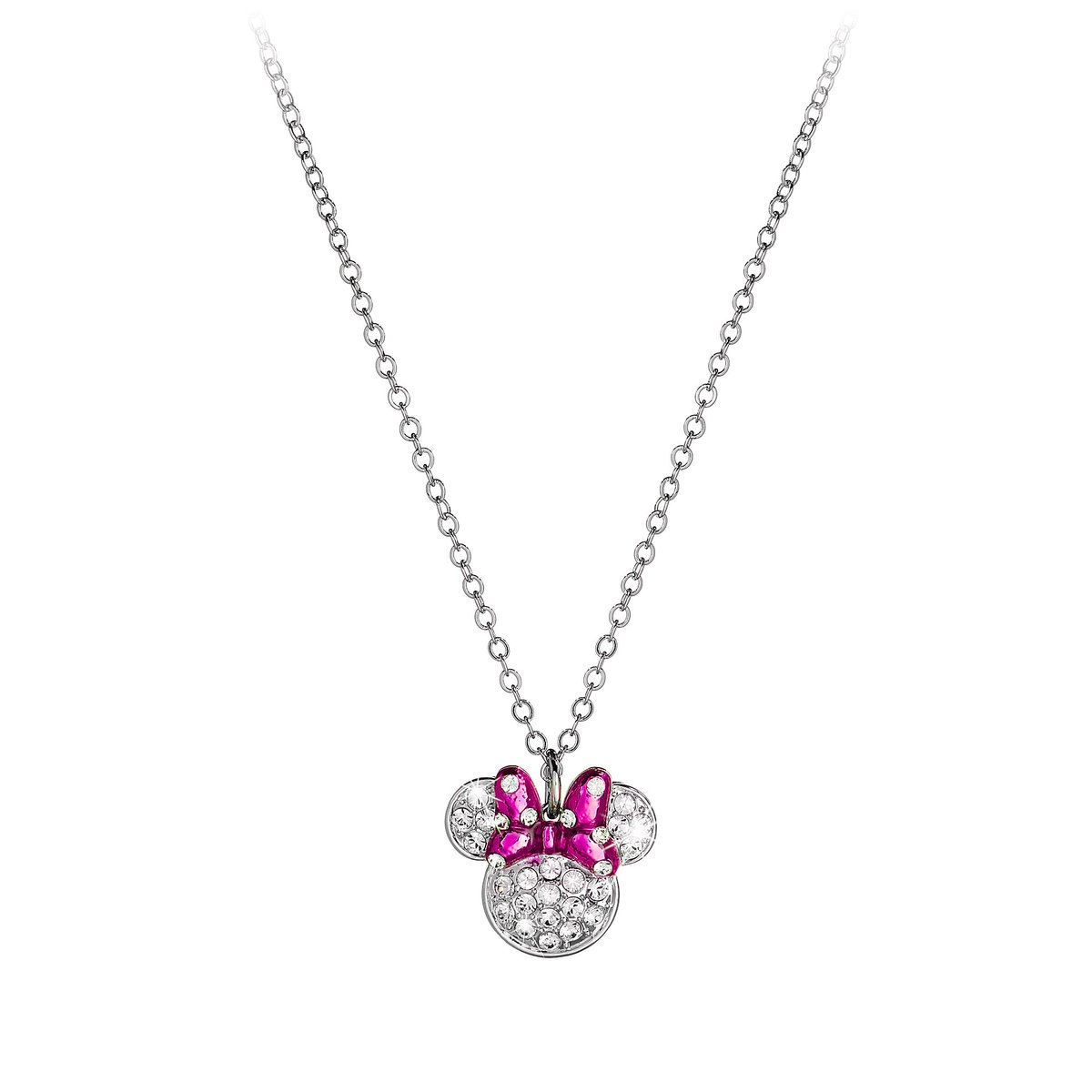 Disney Arribas Necklace – Minnie Mouse Bow Icon With Regard To Best And Newest Disney Minnie's Polka Dots Pendant Necklaces (View 7 of 25)