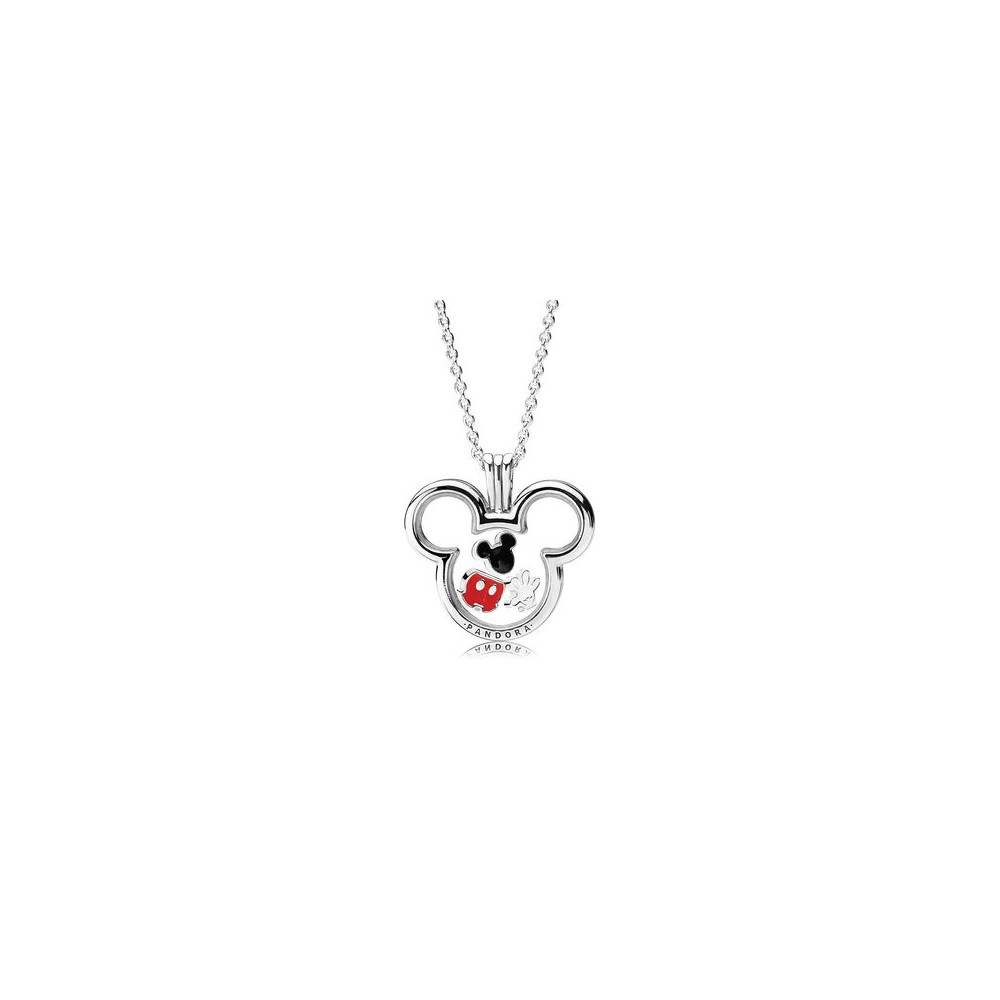 Disney, Mickey Floating Locket, Clear Cz – My Charm Style With Most Recent Disney Mickey Floating Locket Necklaces (View 11 of 25)