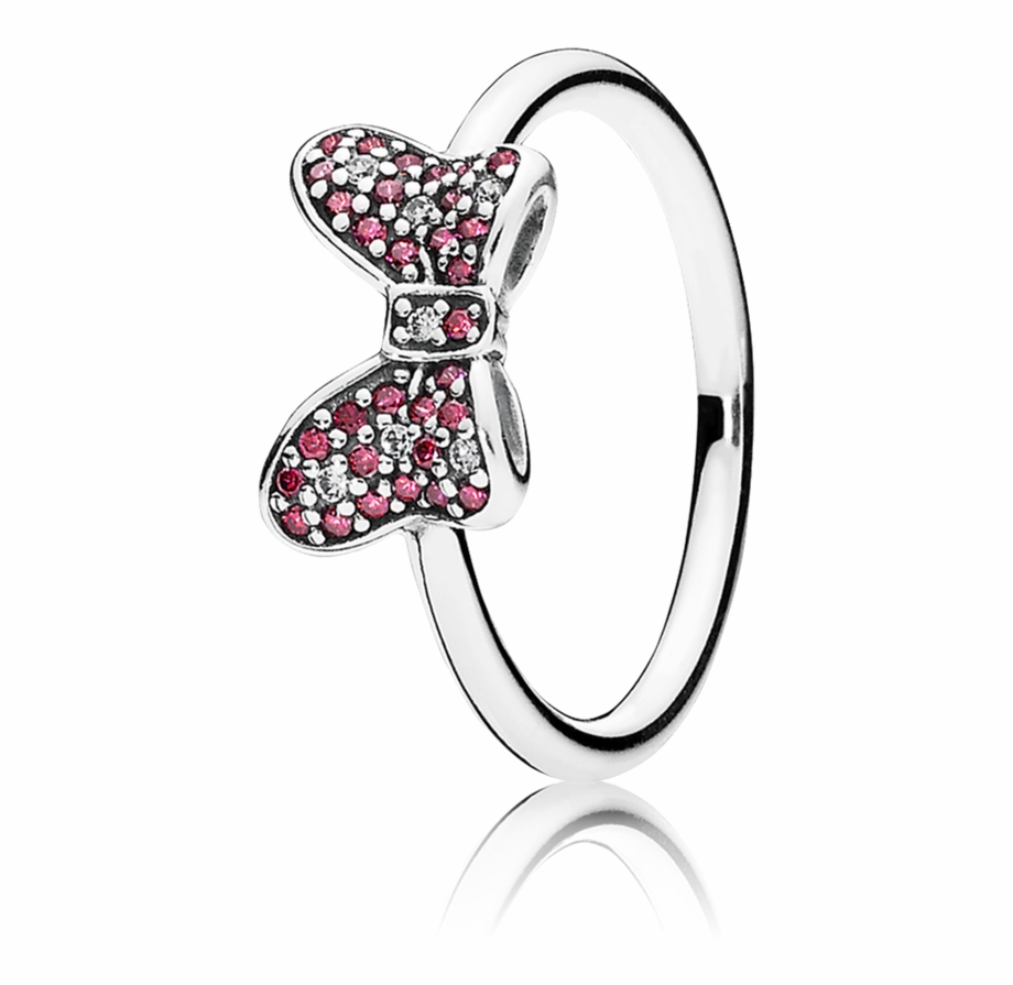 Disney, Mickey Silhouette Ring, Clear Cz 190957Cz – Pandora Minnie Inside Best And Newest Disney Minnie Silhouette Rings (Gallery 10 of 25)