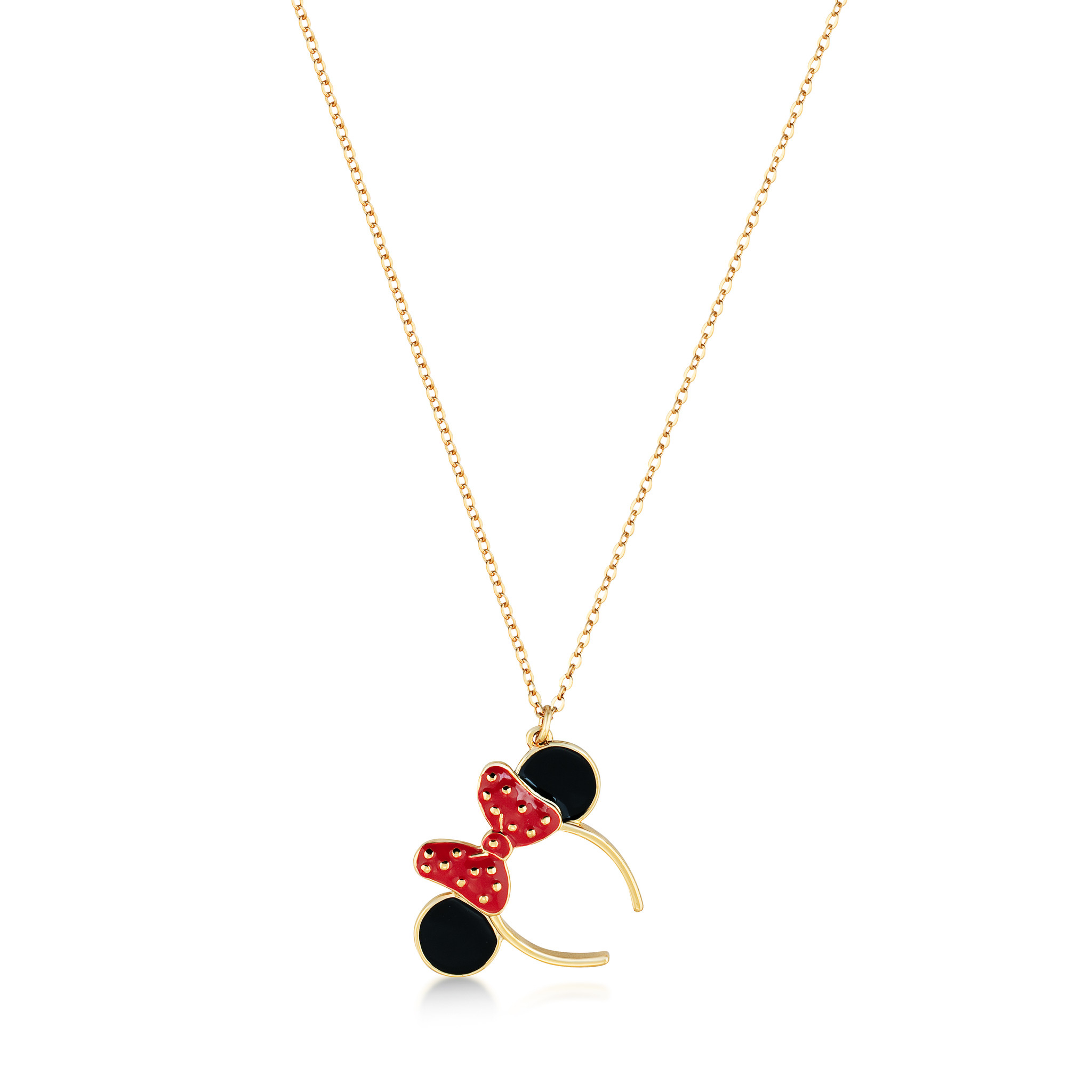 Disney Minnie Mouse Ears Necklace For Most Recently Released Disney Minnie's Polka Dots Pendant Necklaces (View 8 of 25)