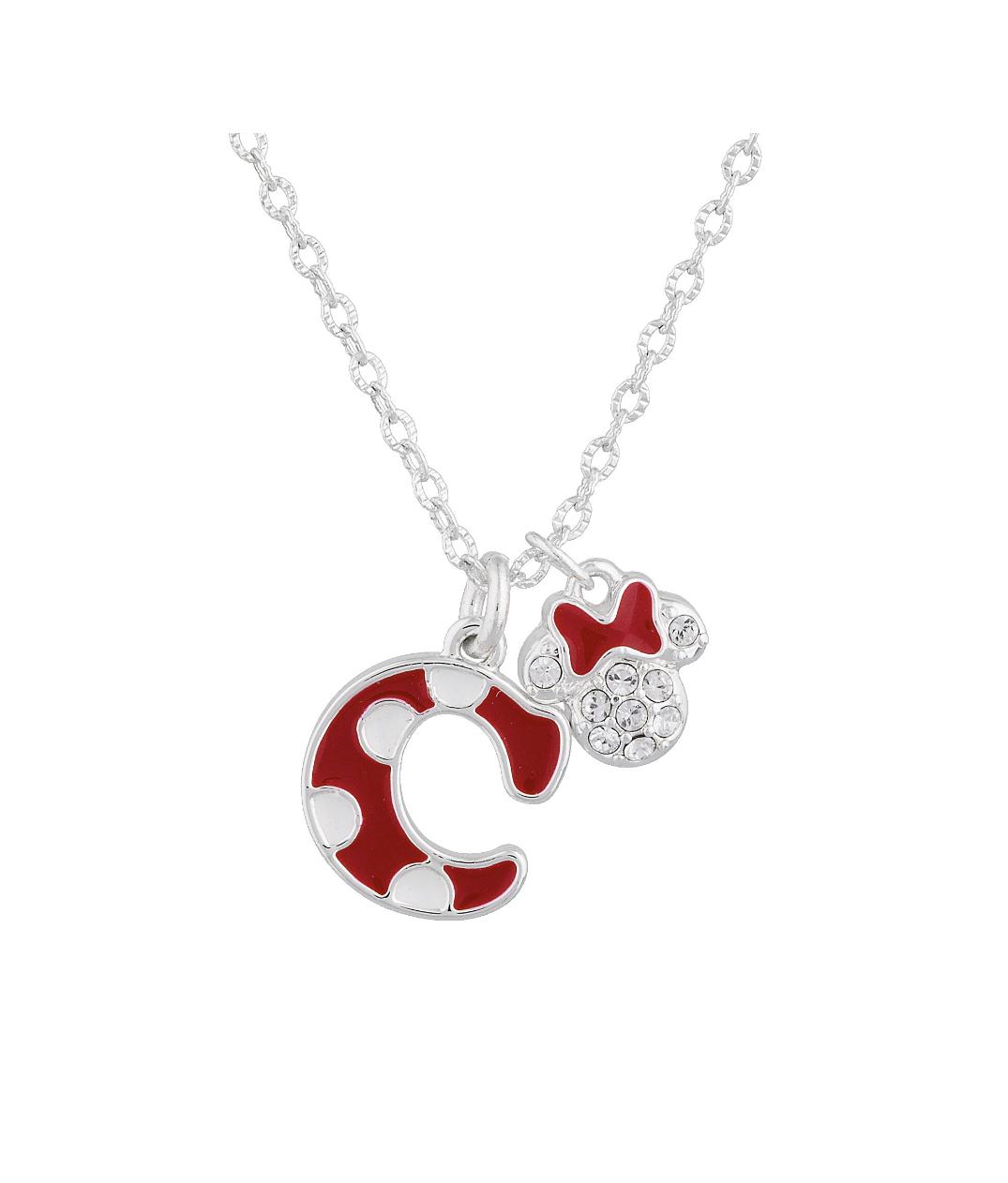 Disney Parks Minnie Polka Dot Initial C Letter Necklace Swarovski Crystal Charm Within 2020 Disney Minnie's Polka Dots Pendant Necklaces (View 4 of 25)