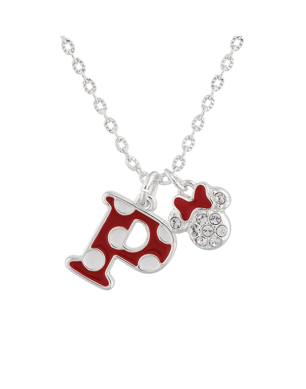 Disney Parks Minnie Polka Dot Initial P Letter Necklace Swarovski Crystal  Charm With Best And Newest Disney Minnie'S Polka Dots Pendant Necklaces (Gallery 6 of 25)
