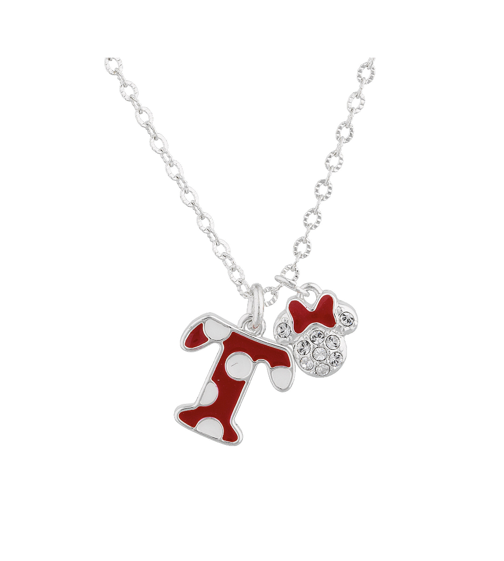 Disney Parks Minnie Polka Dot Initial T Letter Necklace Swarovski Crystal  Charm Intended For 2020 Disney Minnie'S Polka Dots Pendant Necklaces (Gallery 12 of 25)