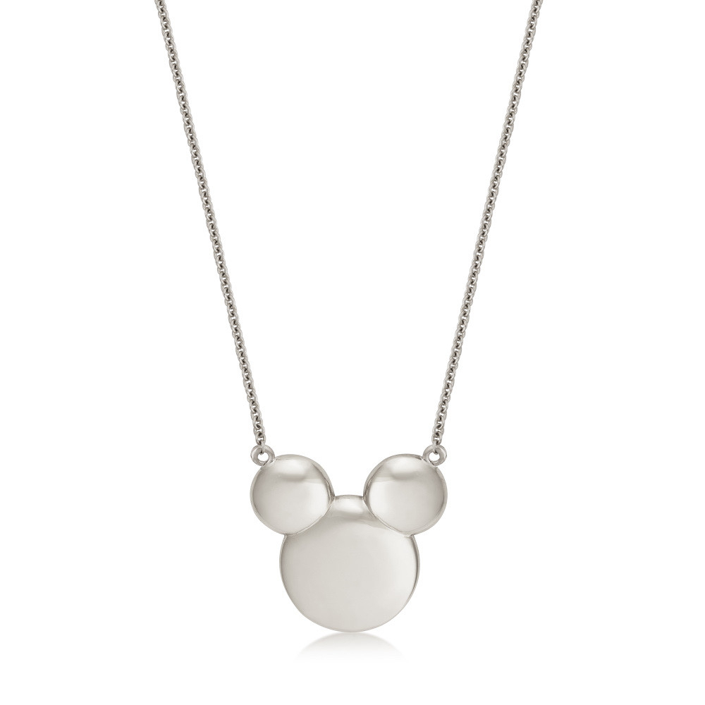 Disney Precious Metal Sterling Silver Classic Mickey Mouse Necklace For Most Up To Date Disney Classic Mickey Pendant Necklaces (View 8 of 25)