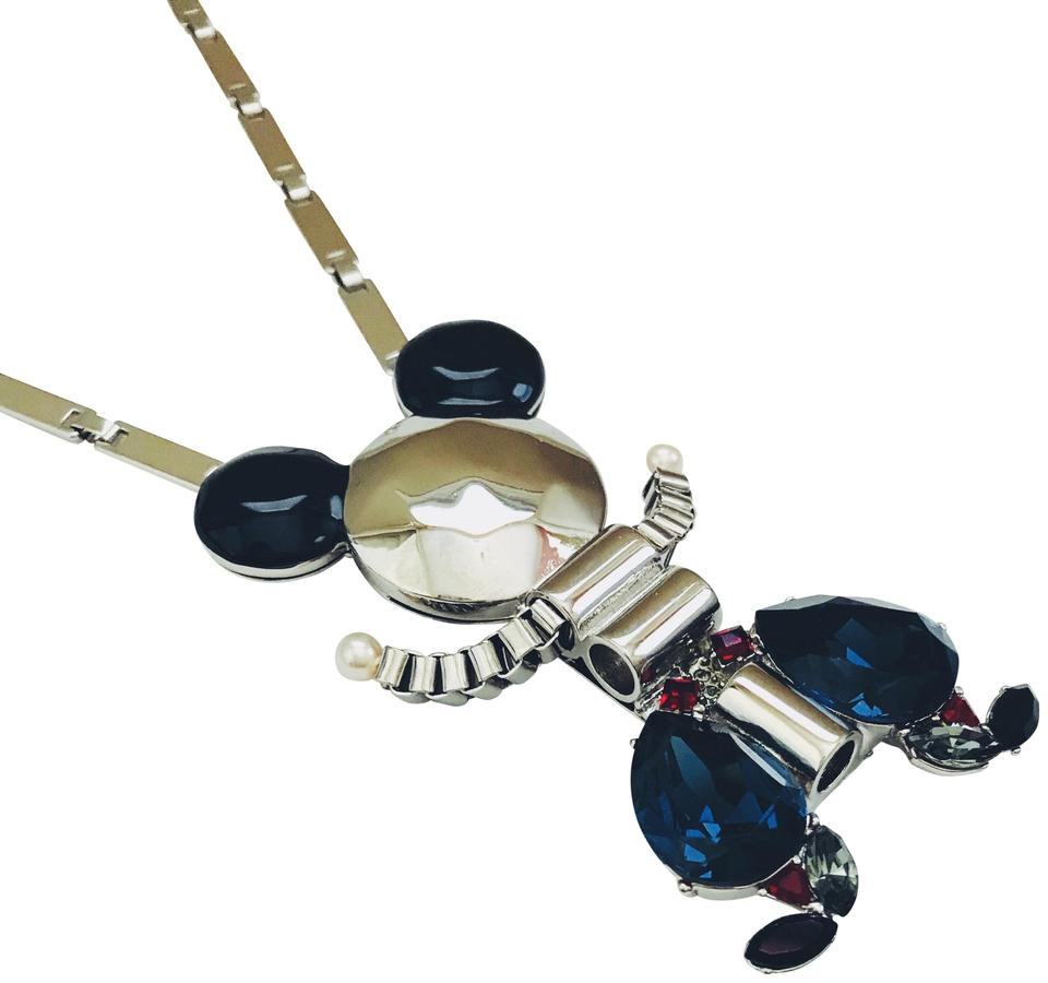 Disney Silver Mickey Mouse Mawi Couture Necklace/brooch Necklace 45% Off  Retail Regarding Latest Disney Classic Mickey Pendant Necklaces (View 9 of 25)