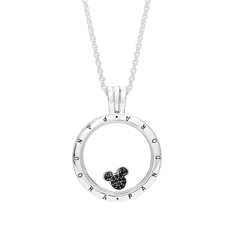 Featured Photo of Disney Sparkling Mickey Icon Petite Locket Charm Necklaces