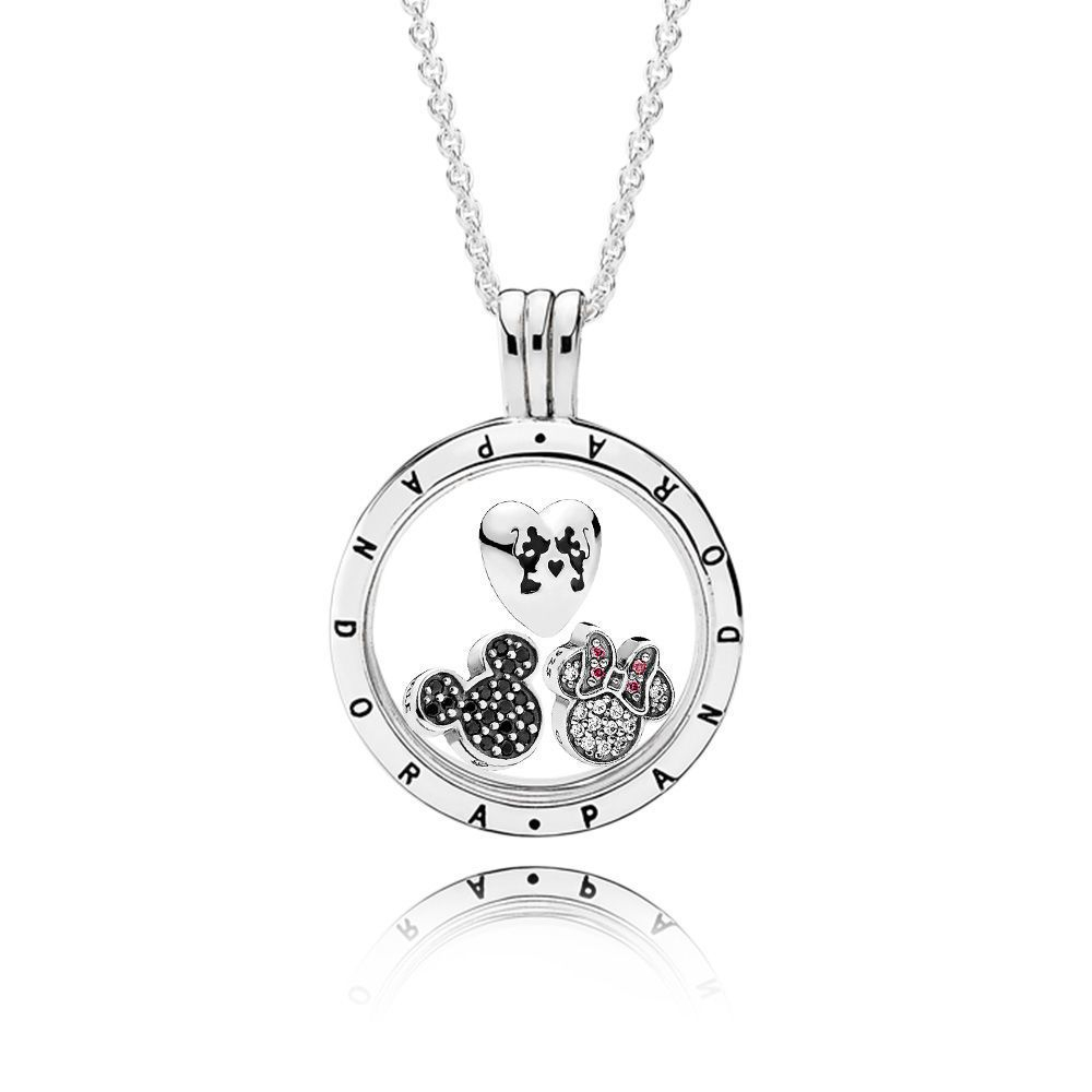 Disney Sparkling Mickey Mouse Pandora Locket Necklace Set | Pandora In Current Disney Sparkling Mickey Icon Petite Locket Charm Necklaces (View 8 of 25)